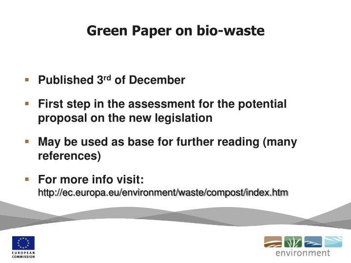 Green Paper on bio-waste
