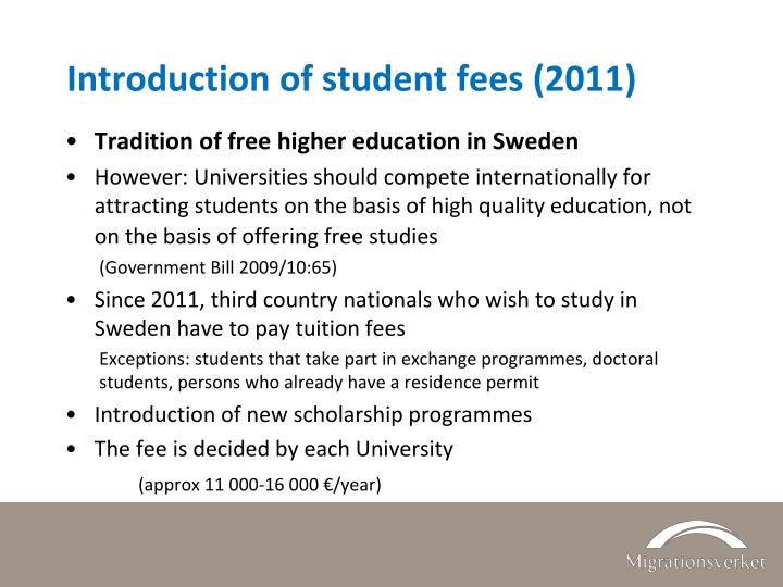 Introduction of student fees (2011)