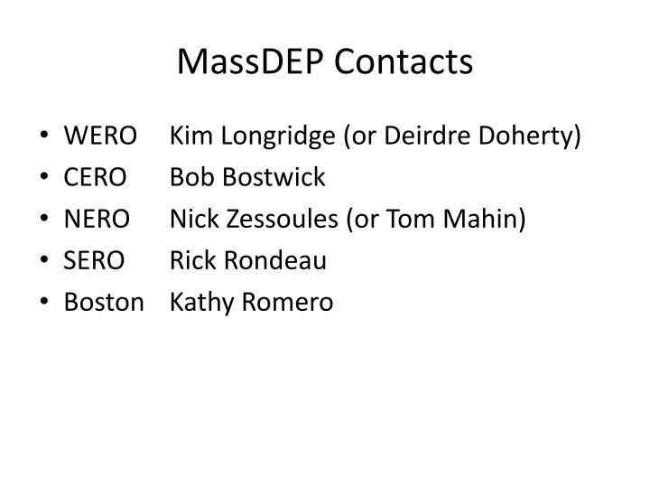 MassDEP Contacts