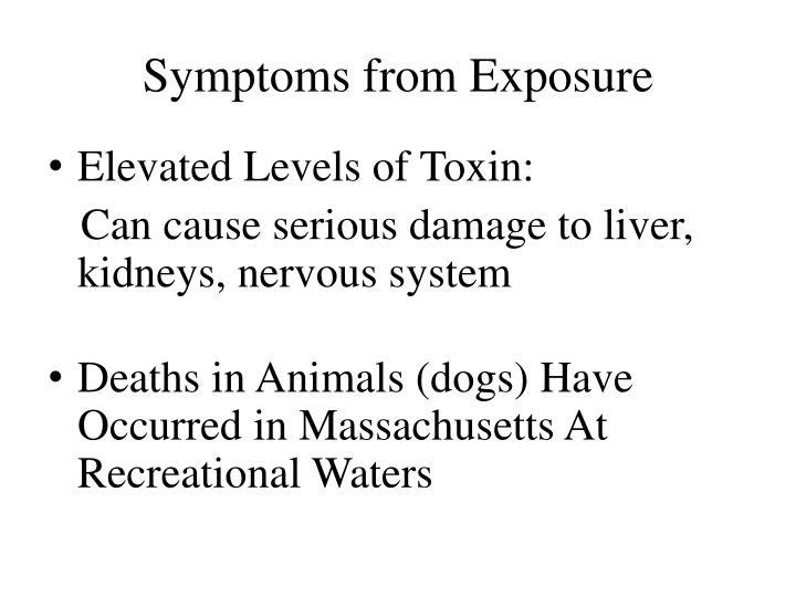 Symptoms from Exposure