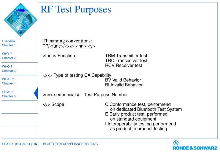 RF Test Purposes