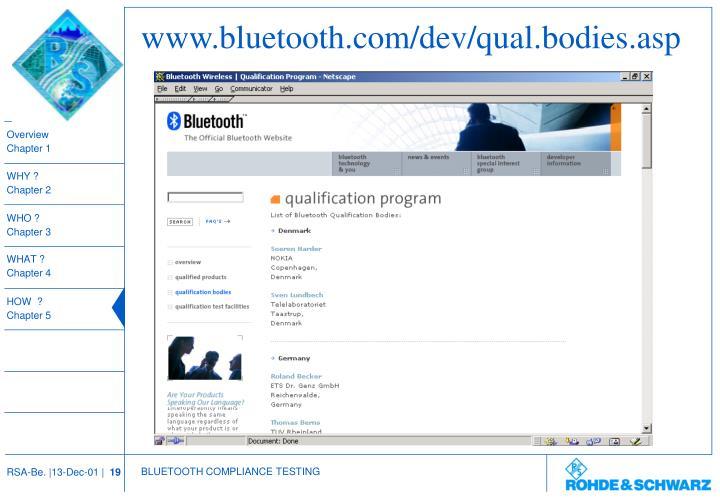 www.bluetooth.com/dev/qual.bodies.asp