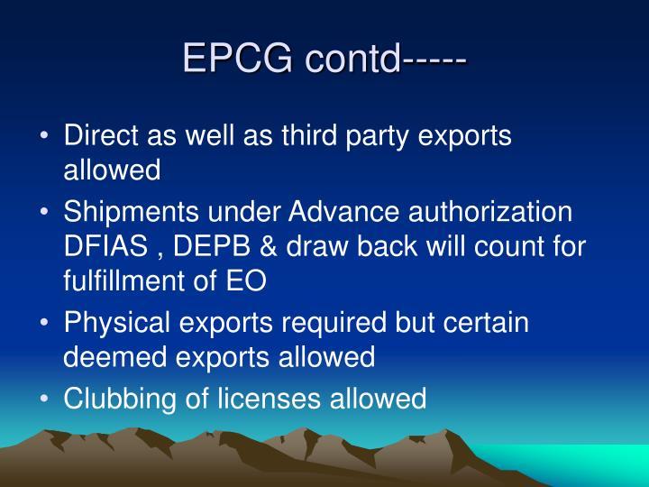 EPCG contd-----