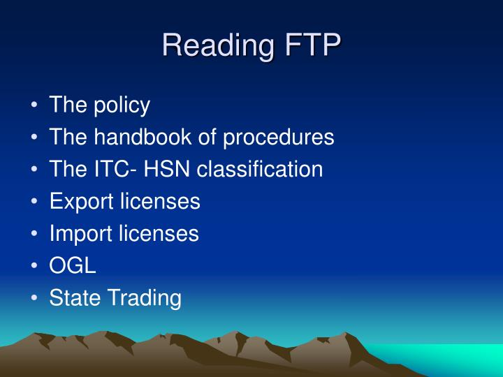 Reading FTP