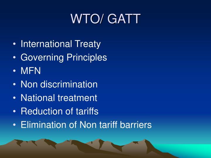 WTO/ GATT
