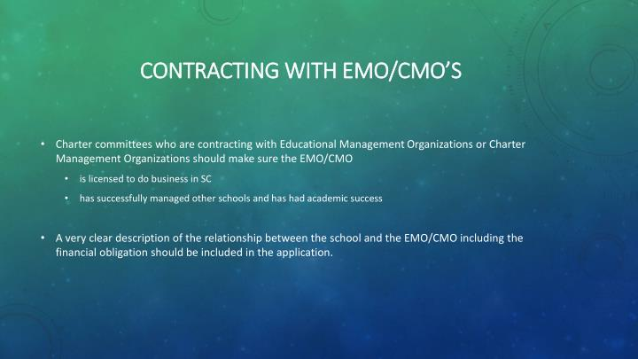 Contracting with emo/