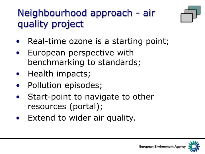 Neighbourhood approach - air quality project