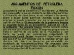 argumentos de petrolera exxon
