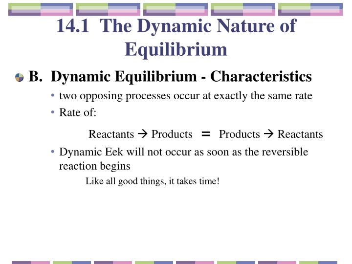 14.1  The Dynamic Nature of Equilibrium