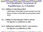 14 4 qualitative treatment of equilibrium le chatelier2