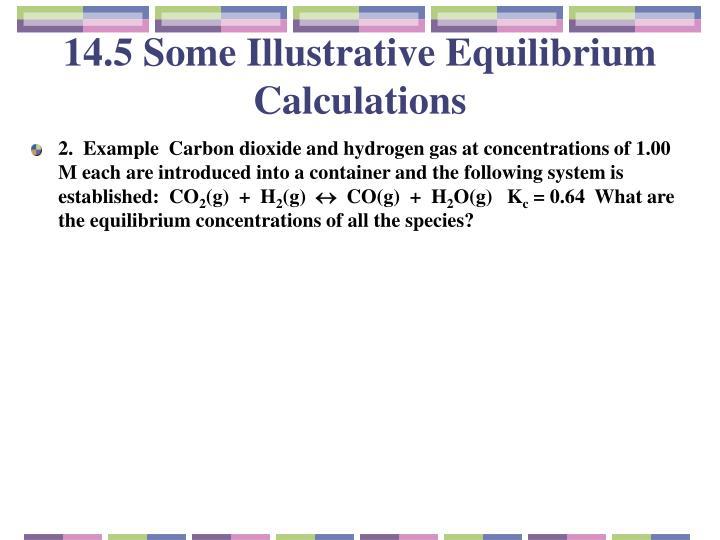 14.5 Some Illustrative Equilibrium Calculations