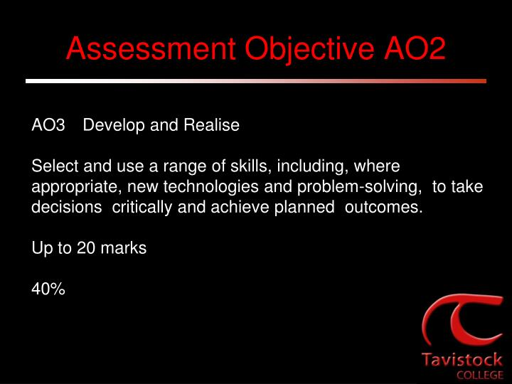 Assessment Objective AO2