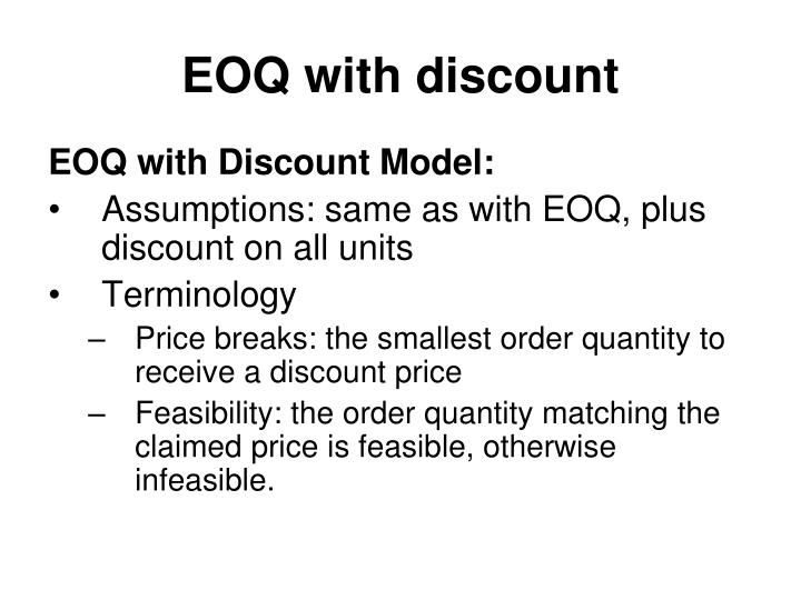 EOQ with discount
