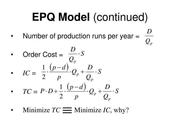 EPQ Model