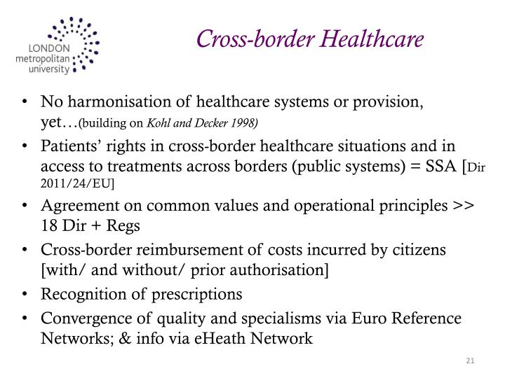 Cross-border Healthcare