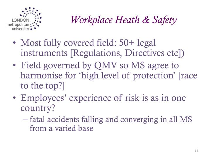 Workplace Heath & Safety