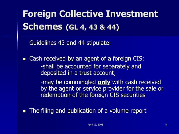 Foreign Collective Investment Schemes