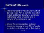 name of cis cont d