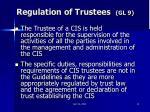 regulation of trustees gl 9