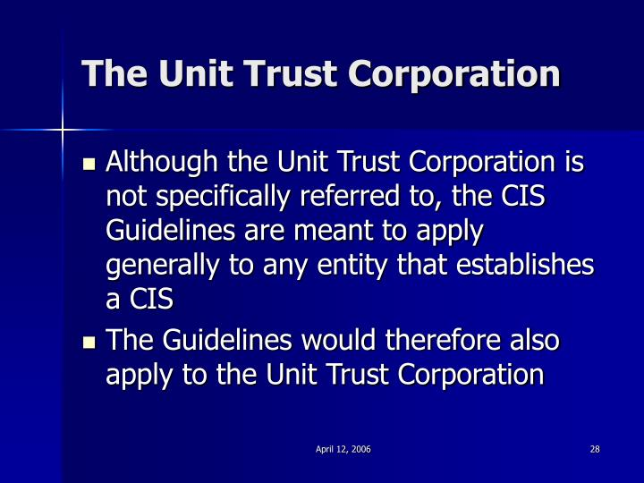 The Unit Trust Corporation