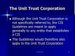the unit trust corporation
