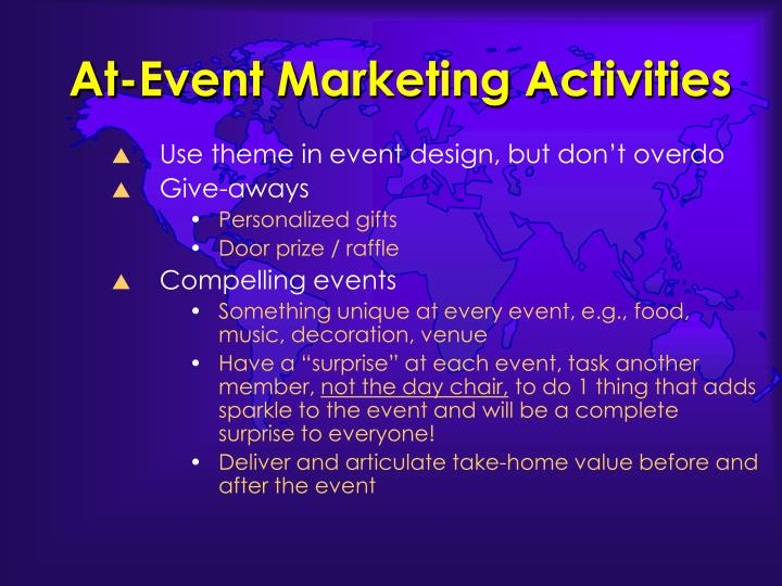 At-Event Marketing Activities