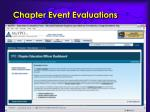 chapter event evaluations