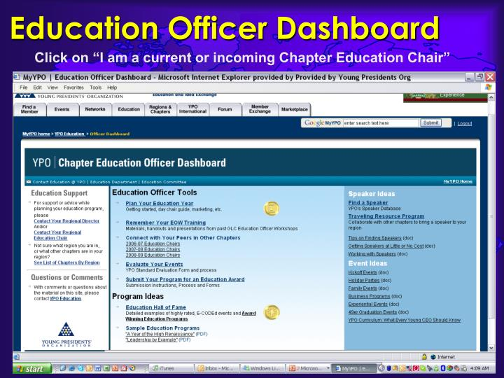 Education Officer Dashboard