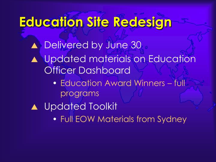 Education Site Redesign