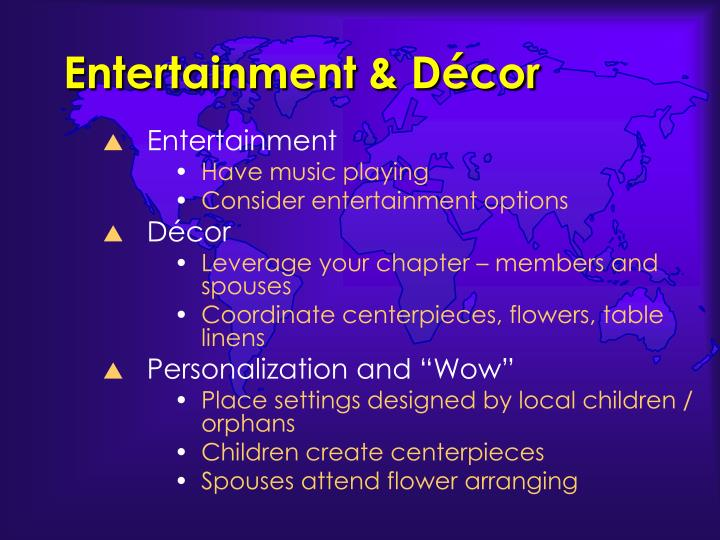 Entertainment & Décor