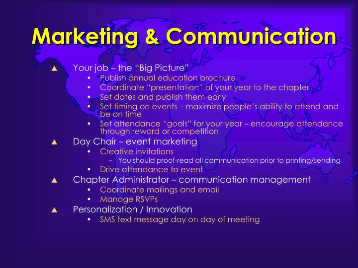 Marketing & Communication
