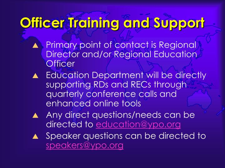 Officer Training and Support