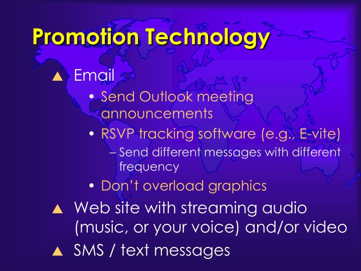 Promotion Technology
