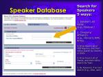 speaker database