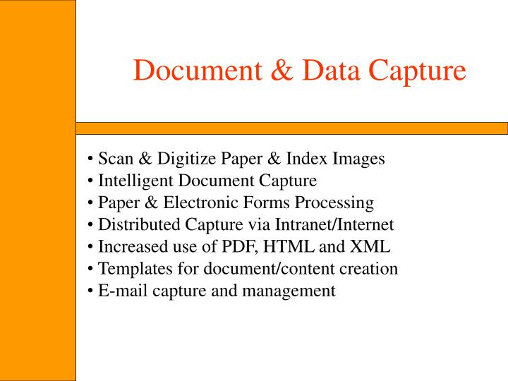 Document & Data Capture