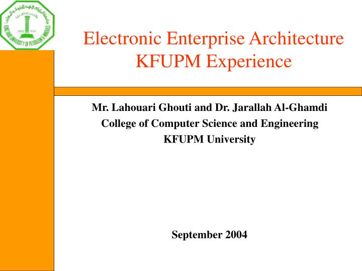 Electronic Enterprise Architecture