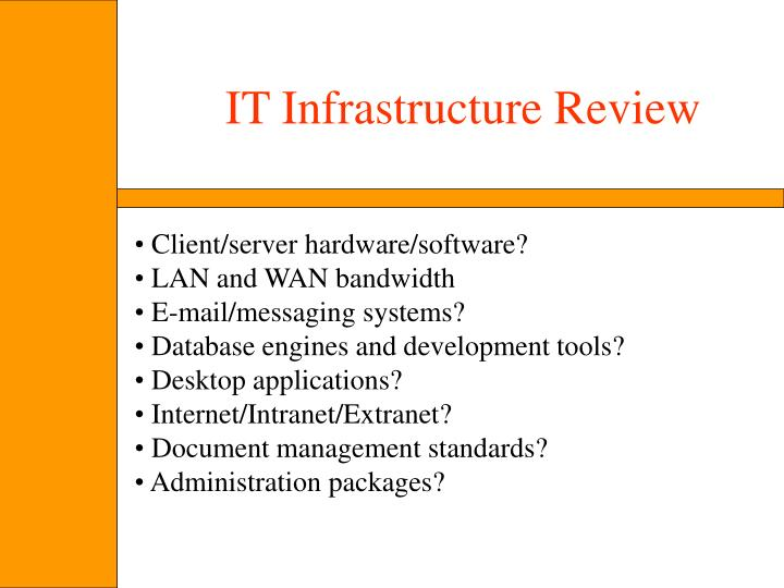 IT Infrastructure Review
