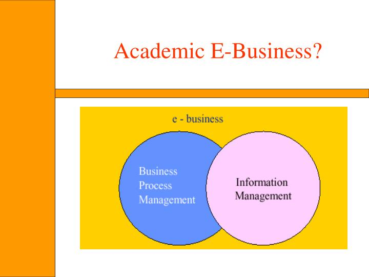 Academic E-Business?