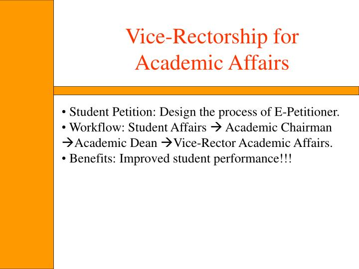 Vice-Rectorship for