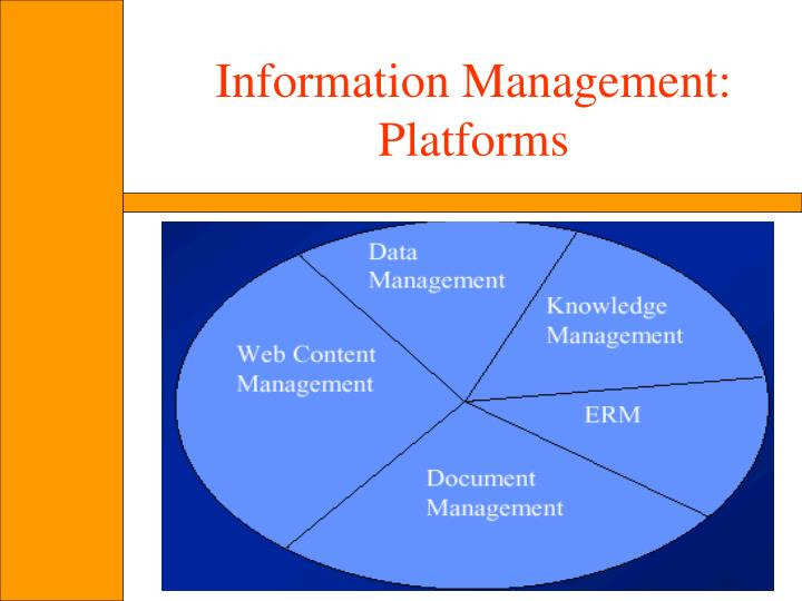 Information Management: Platforms