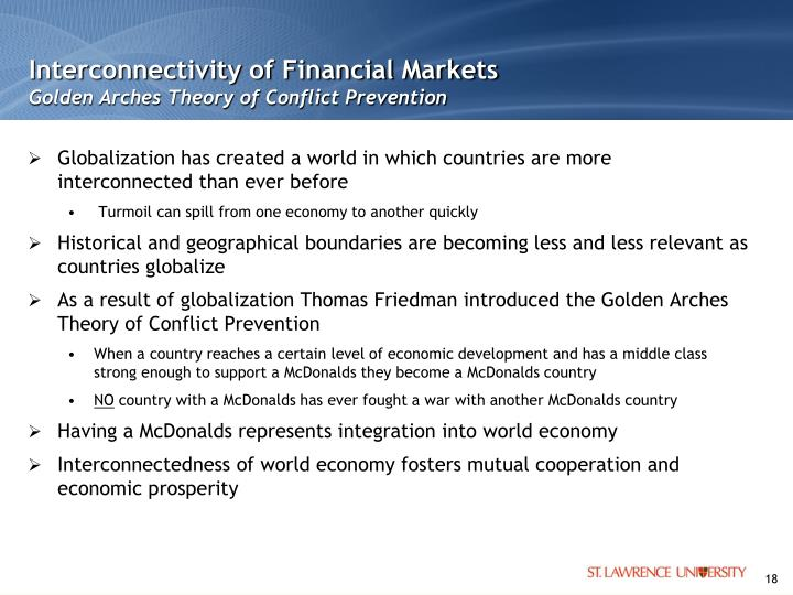 Interconnectivity of Financial Markets