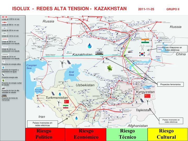 ISOLUX  -  REDES ALTA TENSION -  KAZAKHSTAN