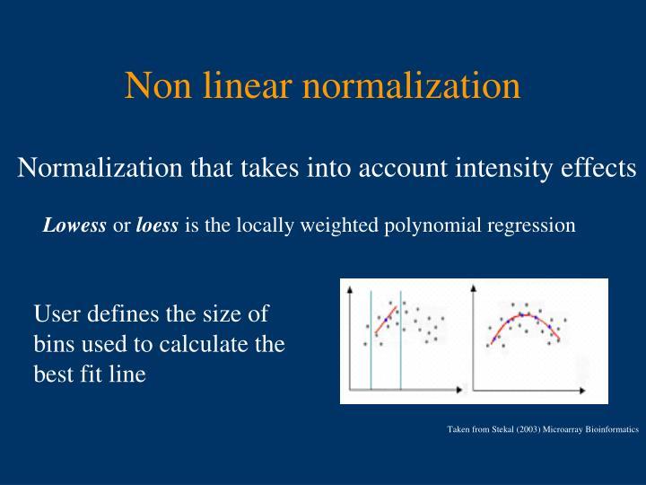 Non linear normalization