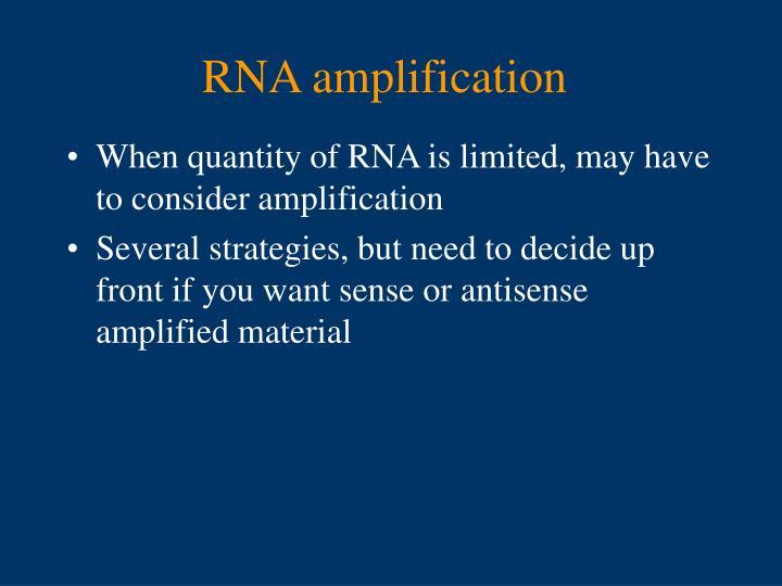 RNA amplification