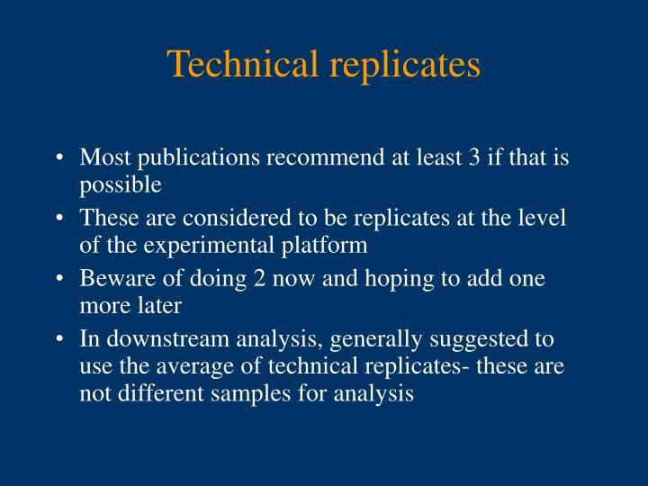Technical replicates