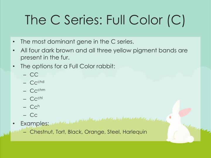 The C Series: Full Color (C)
