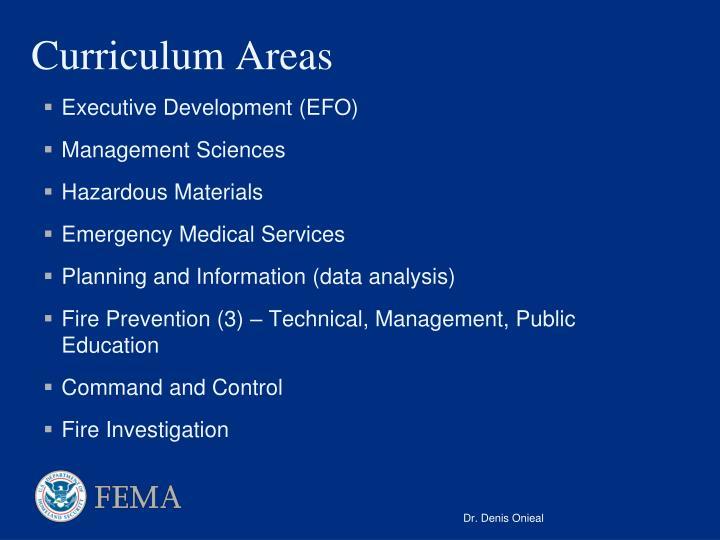Curriculum Areas