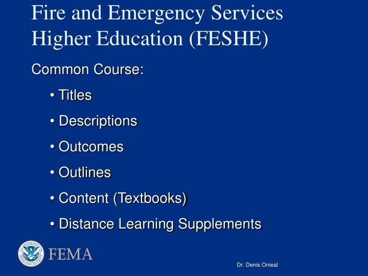 Fire and Emergency Services Higher Education (FESHE)