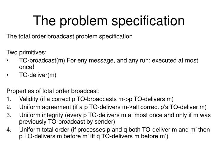 The problem specification