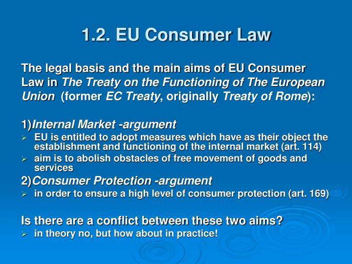 1.2. EU Consumer Law